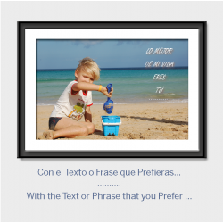 Poster con texto personalizado